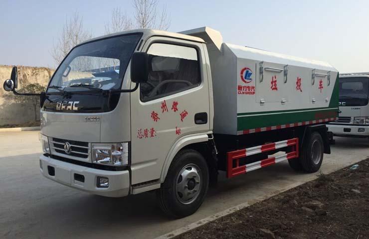 东风福瑞卡密封自卸式垃圾车