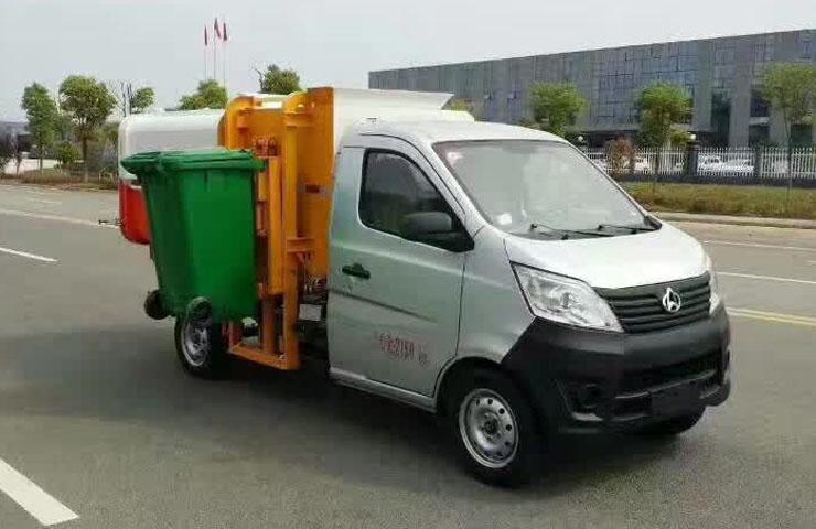 重庆长安挂桶式垃圾车