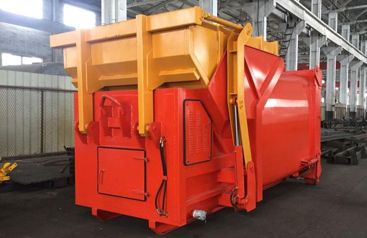 拉臂式垃圾车12立方移动压缩垃圾箱