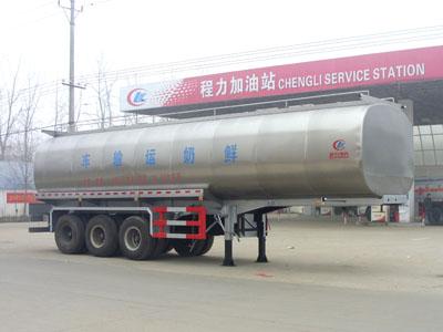 程力威牌CLW9402GNY型34立方鲜奶运输半挂车