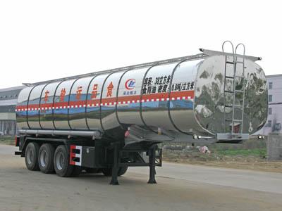 程力威牌CLW9400GSY型43立方食用油运输半挂车