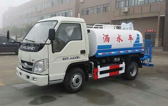 小吨位洒水车,福田2吨蓝牌洒水车