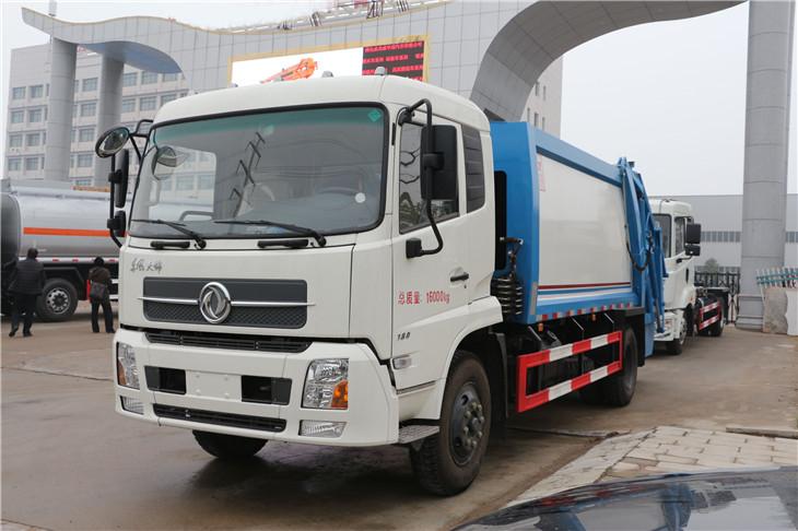 东风天锦压缩式垃圾车45度正面图片1.jpg
