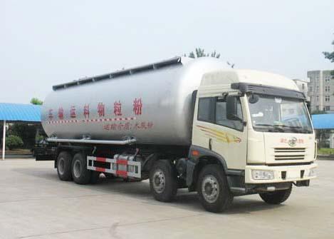 解放J6前四后八粉粒物料运输车(国三)