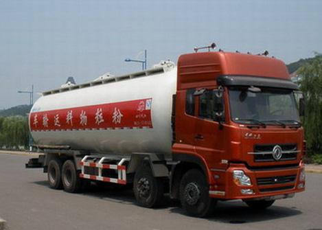 东风天龙前四后八粉粒物料运输车(国三)