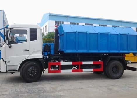 东风天锦拉臂式垃圾车