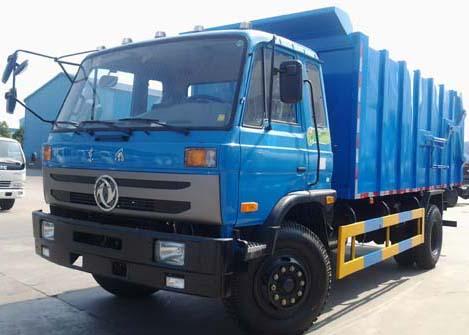 东风多利卡密封自卸式垃圾车